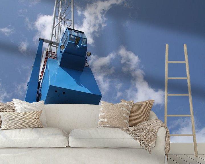 Sfeerimpressie behang: De Havenkraan in Harlingen van Jetty Boterhoek