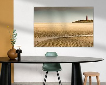 Vuurtoren op Texelse strandLighthouse on Texel Beach,Leuchtturm am Strand von TexelPhare sur la plag von Tonny Visser-Vink