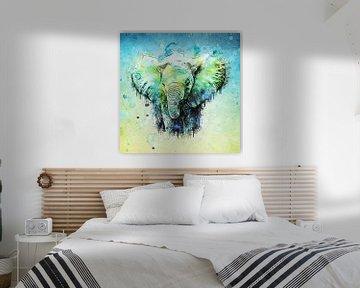 watercolor elephant van Anne Ebert