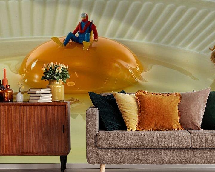 Sfeerimpressie behang: zwemmen in het ei van Compuinfoto .