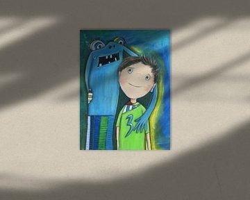 Matti und das Schwimmbad Monster van Atelier BuntePunkt