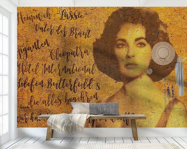 Sfeerimpressie behang: Legenden - Liz Taylor van Christine Nöhmeier