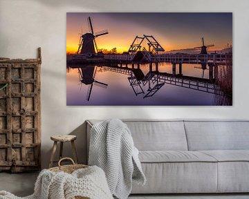 Sunset @ Kinderdijk van Michael van der Burg
