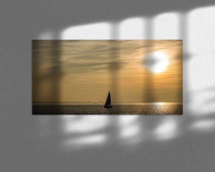 Sfeerimpressie: Zeilboot op de oosterschelde van Thomas Lang