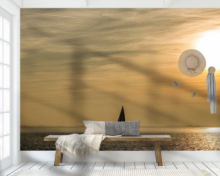 Sfeerimpressie behang: Zeilboot op de oosterschelde van Thomas Lang