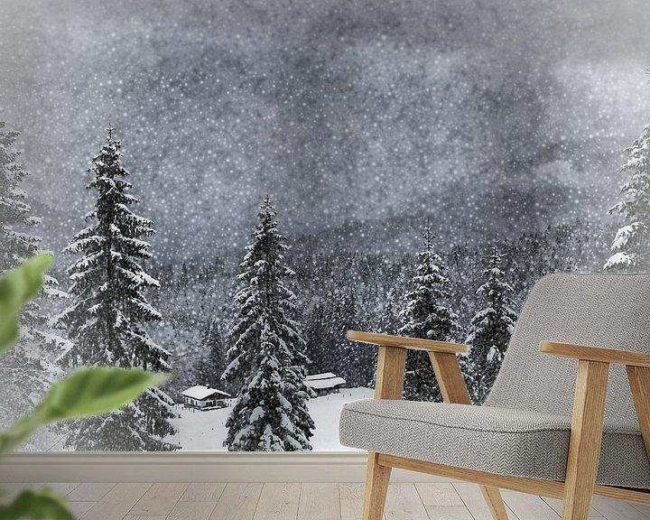 Beispiel fototapete: Wintermärchen HEMMERSUPPENALM I von Melanie Viola