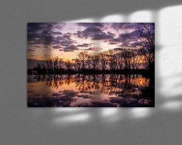 Warme zonsopkomst Wilp van Robin Velderman
