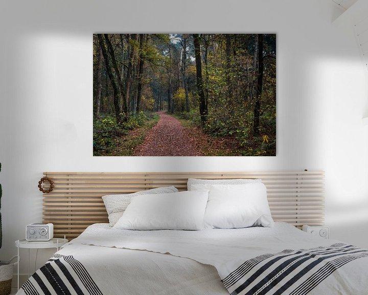 Sfeerimpressie: Winding Forest Path  van William Mevissen