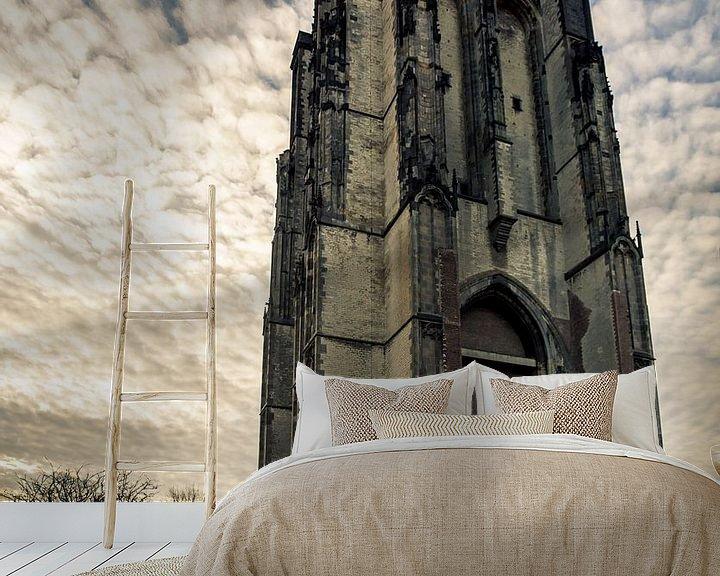 Sfeerimpressie behang: Dikke toren Zierikzee van Thomas Lang