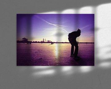 Eenzame schaatser  van Nisangha Masselink