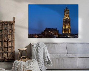 Domkerk en Domtoren in Utrecht  van Donker Utrecht