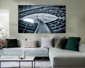 Pad onder brug in Den Bosch van PvdH Fotografie