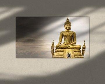 Buddha beeld, Phuket (KLEUR) van Raymond Gerritsen