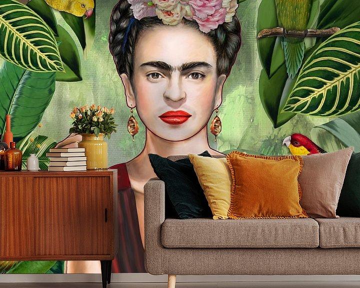 Beispiel fototapete: Frida con amigos von Nettsch .