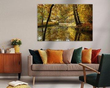 Vijver in de herfst von Michel van Kooten