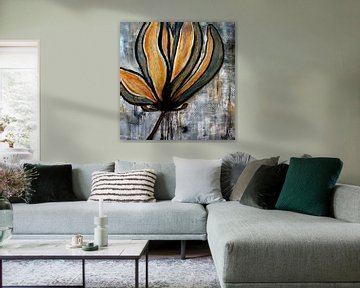 magnolia bloem  von Femke van der Tak (fem-paintings)