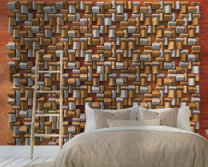 Sfeerimpressie behang: Reliëf H3 Kaas van Frans Blok