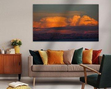 Sunset White Sands - New Mexico van Tonny Swinkels
