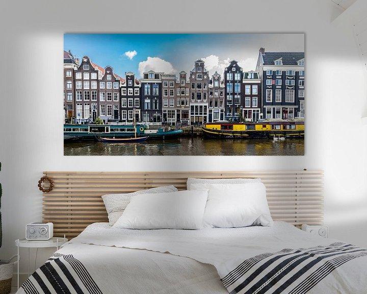 Sfeerimpressie: Gevels aan het Singel in Amsterdam. van Don Fonzarelli