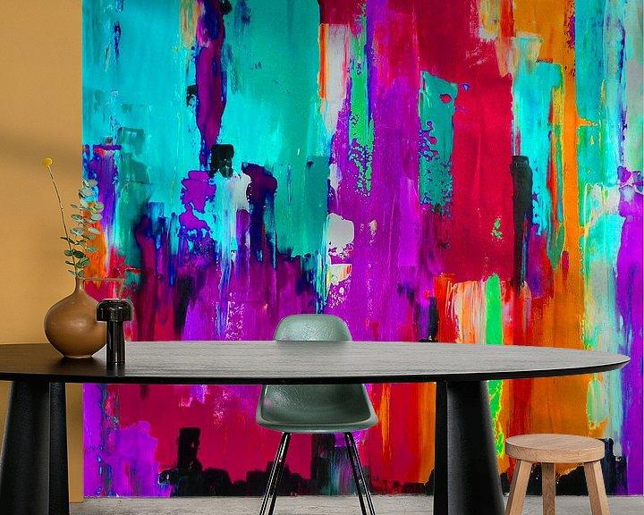 Sfeerimpressie behang: Bright Lights 3  van Emma Ball