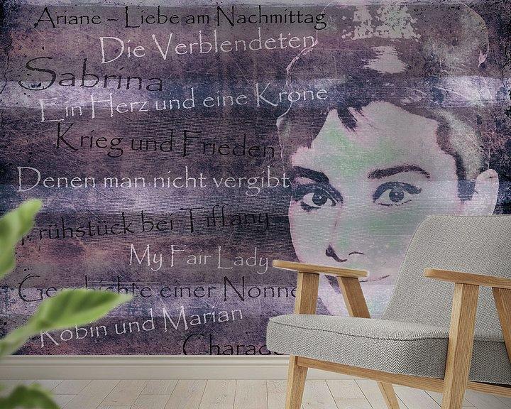 Sfeerimpressie behang: Legends - Audrey Hephurn van Christine Nöhmeier