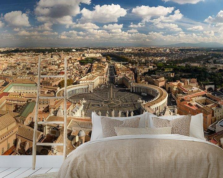 Sfeerimpressie behang: Rome en Vaticaan panorama van Sjoerd Mouissie