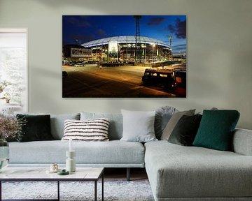 Stadion Feijenoord ofwel De Kuip in Rotterdam voor de halve finale van de KNVB beker 2016 van Merijn van der Vliet