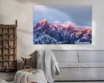 Alpenglühen am Dachstein sur Coen Weesjes