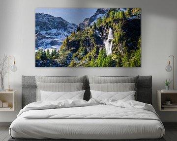 Wasserfall in den Bergen sur Coen Weesjes