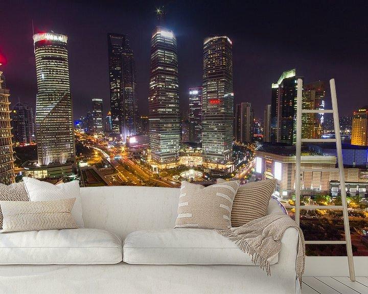 Sfeerimpressie behang: De bund Shanghai van Paul Dings