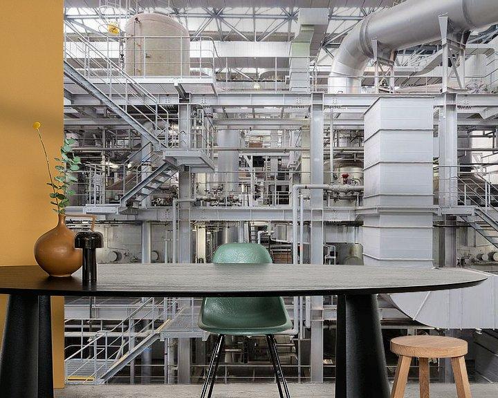 Sfeerimpressie behang: Naka Waste Incineration Plant 2 van Jasper Arends