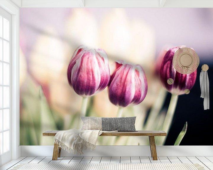 Sfeerimpressie behang: Tulpen van Erik Rudolfs