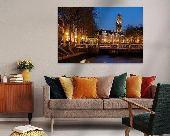Beispiel: Weerdsluis, Oudegracht en Domtoren in Utrecht von Donker Utrecht