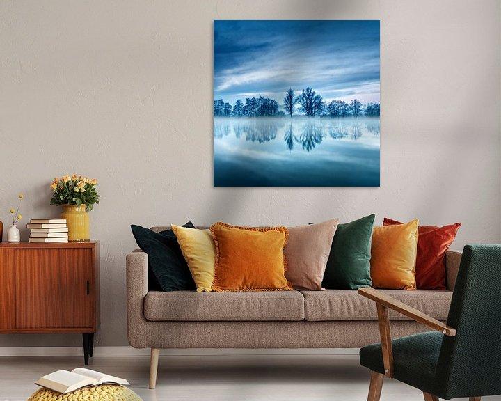 Sfeerimpressie: Blue hour trees van Ruud Peters