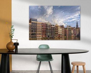 Cloudy Damrak - Amsterdam van Thomas van Galen