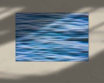Blauw witte golven van Jan Brons