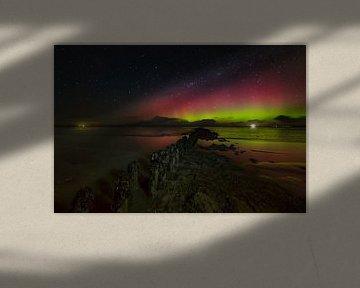 Aurora Borealis Pays-Bas sur Peter Bolman