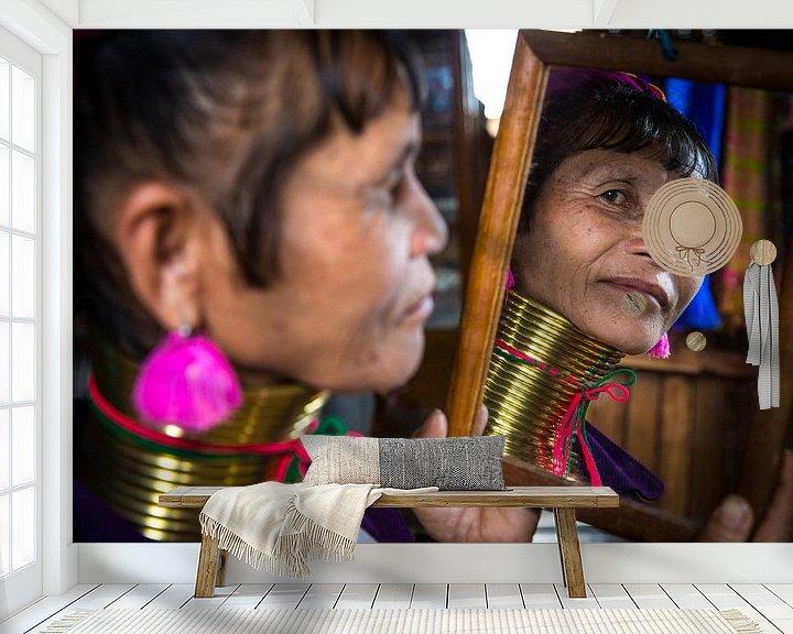 Beispiel fototapete: INLE, MYANMAR, den 17. Dezember 2015 - ich nahm dieses Foto in Inle, Myanmar 17. Dezember 2015 - Es  von Wout Kok