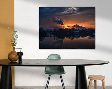 Industrial sunrise van Lex Schulte