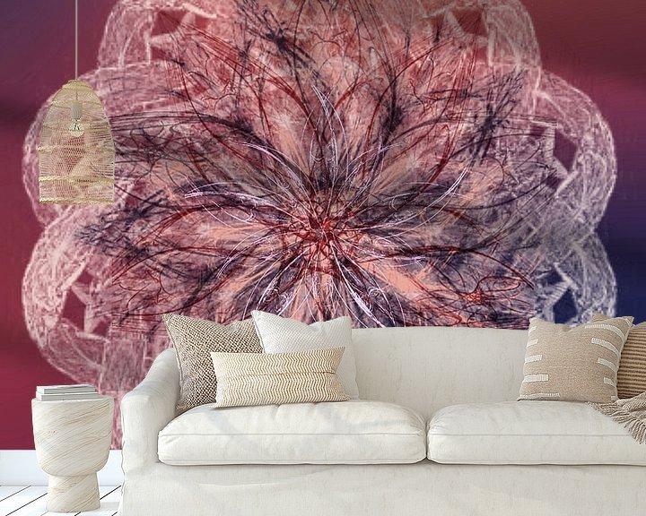 Beispiel fototapete: Mandala lila orange von Rietje Bulthuis
