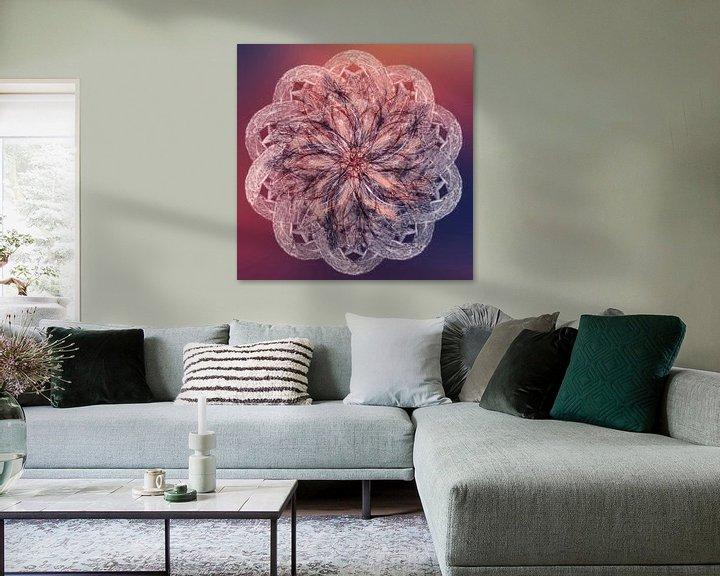 Beispiel: Mandala lila orange von Rietje Bulthuis