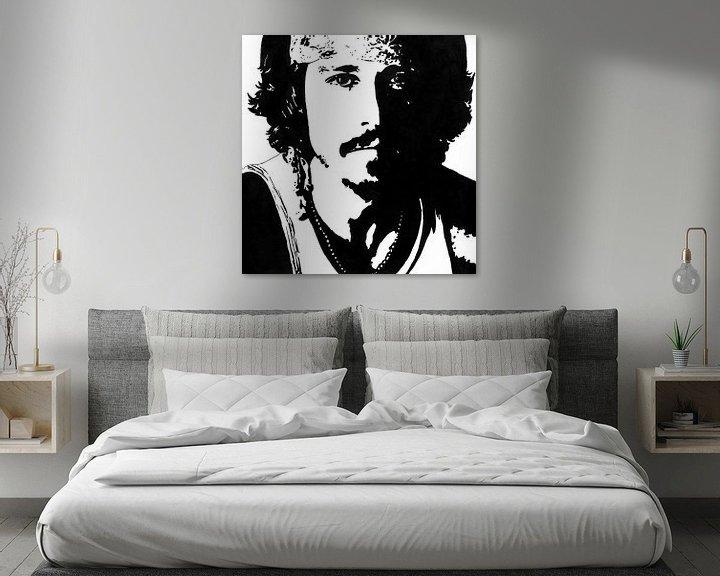 Beispiel: Johnny Depp Tuschezeichnung schwarz-weiß von Fotojeanique .