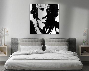 Johnny Depp inkt tekening zwart-wit van Fotojeanique .