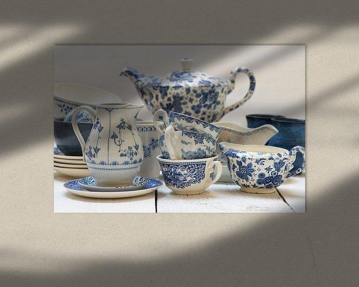 Sfeerimpressie: Blauw servies van Barbara Brolsma