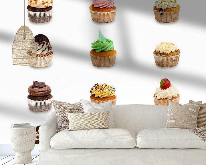 Beispiel fototapete: Gezellige Cupcakes von Studio LINKSHANDIG Amsterdam
