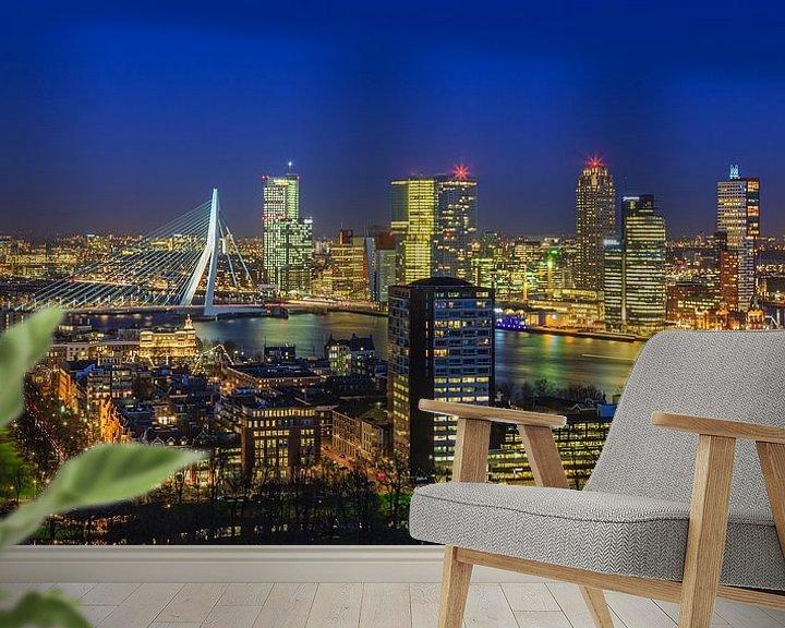 Sfeerimpressie behang: Skyline Rotterdam vanaf de Euromast   Tux Photography - 5 van Tux Photography