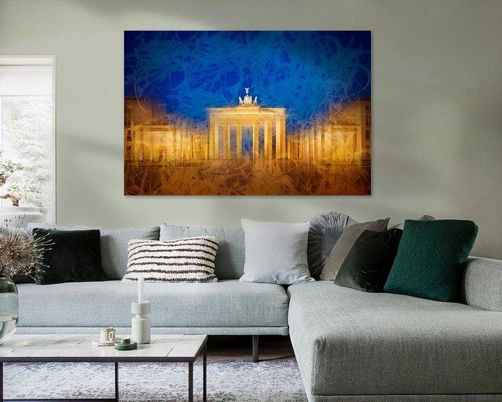 Sfeerimpressie: Modern Art BERLIN Brandenburg Gate van Melanie Viola