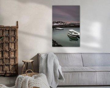 Jachthaven in Botnhamn op het eiland Senja van Dennis Wierenga