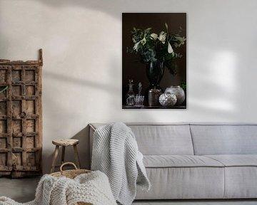 Stilleven met bloemen in vaas von Rob Faas