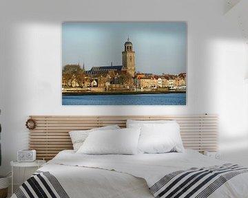 Skyline van Deventer aan de IJssel met de Lebuinuskerk  van Merijn van der Vliet